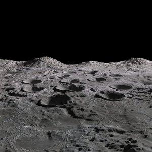 3D moon landscape model