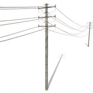 3D electricity poles