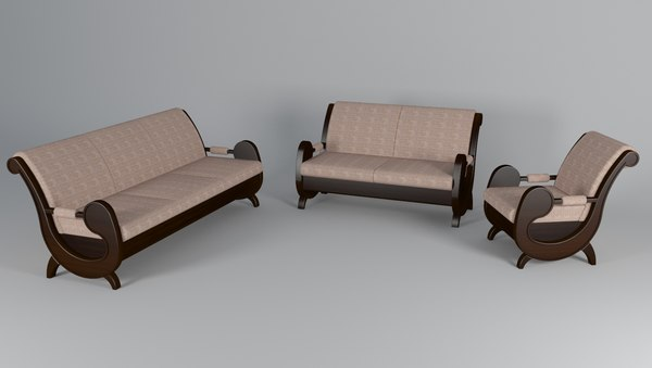 sofa group style 3D model