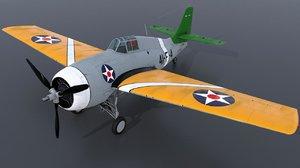 3D uss grumman wildcat model