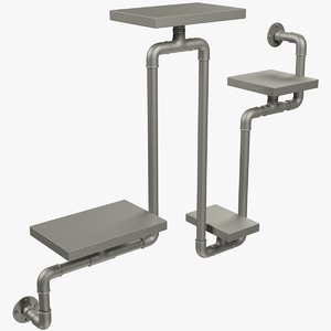 3D loft shelf