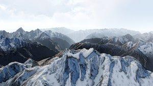 3D himalayas mountains landscape