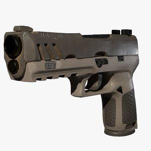 tactical handgun 3D model