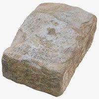 stone block 02 3D