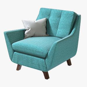 realistic joybird eastwood armchair 3D
