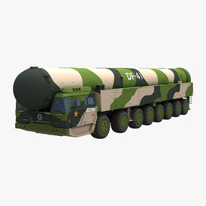 chinese df-41 missile 3D model