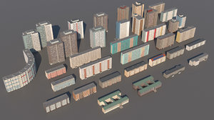 germany ddr building 3D