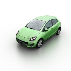 3D generic hatchback model