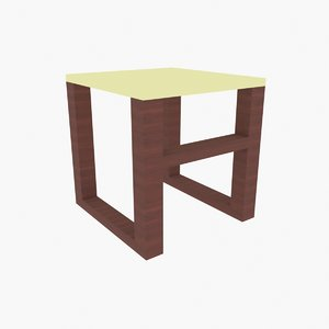 small table 3D