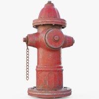 3D model red blender pbr