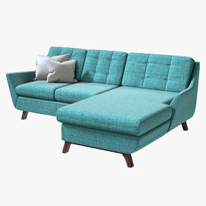 3D realistic joybird eastwood sectional sofa
