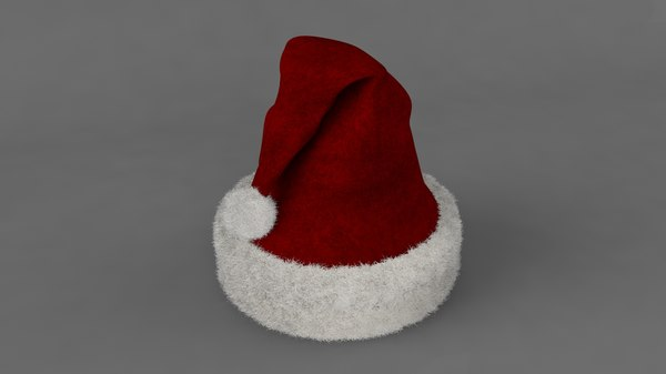 realistic christmas hat 3D model