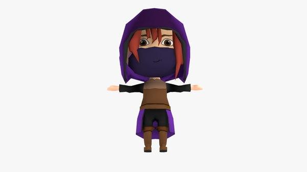 chibi girl thief 3D