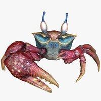 3D sea crab animal