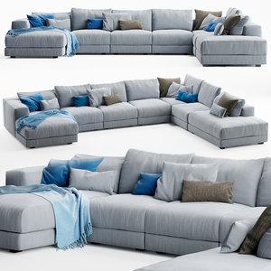 swan hills sofa 3D model
