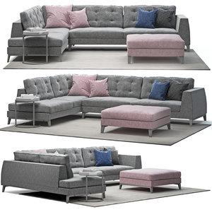 sofa time pianca 3D model