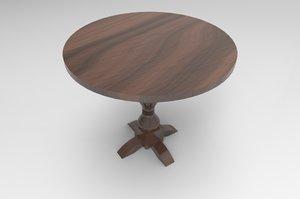 3D model decoration table