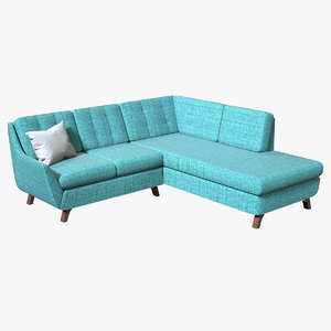 realistic joybird eastwood sectional 3D model