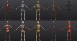 character army skeleton substance 3D