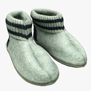 3D realistic slippers model