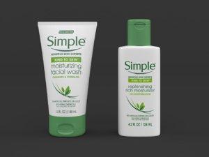 3D simple kind skin moisturizing model
