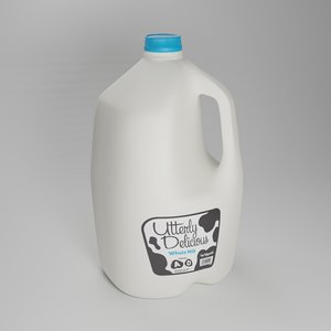 gallon milk jug 3D