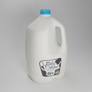 gallon milk jug 3D