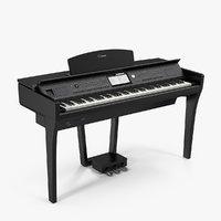3D model yamaha clavinova cvp-709 black