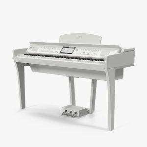 3D yamaha clavinova cvp-709 white model