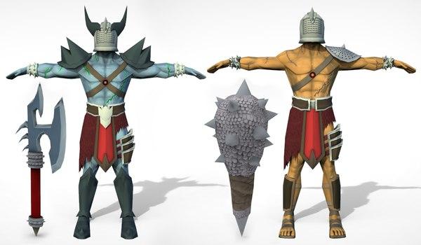 gladiator arms 3D model