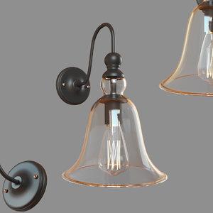 loft glass bell loft1812w 3D model