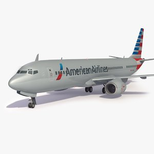 3D american airlines airplane generic