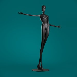 windowfrance mannequin 605 coll 3D model