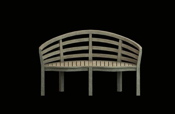 old wooden 3D model