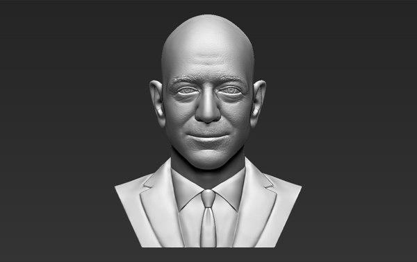 3D jeff bezos bust ready