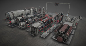 3D machinery pack unity model