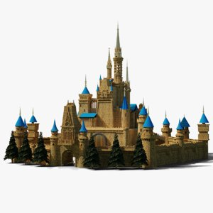 castle modelled 3D model