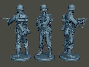 german soldier ww2 g2 3D model