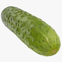 3D model cucumber 08 hi polys