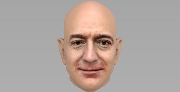 3D jeff bezos model