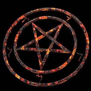 3D pentagram devil evil model