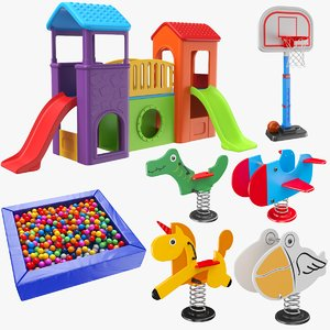 play ground games 3D model