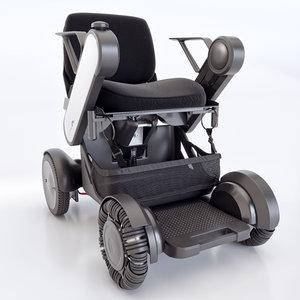 3D model whill ci power wheelchair