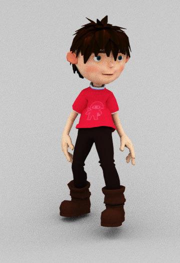 3D loop animation boy model