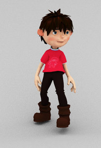 3D loop animation boy model