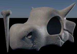 3D pokemon cubone skull
