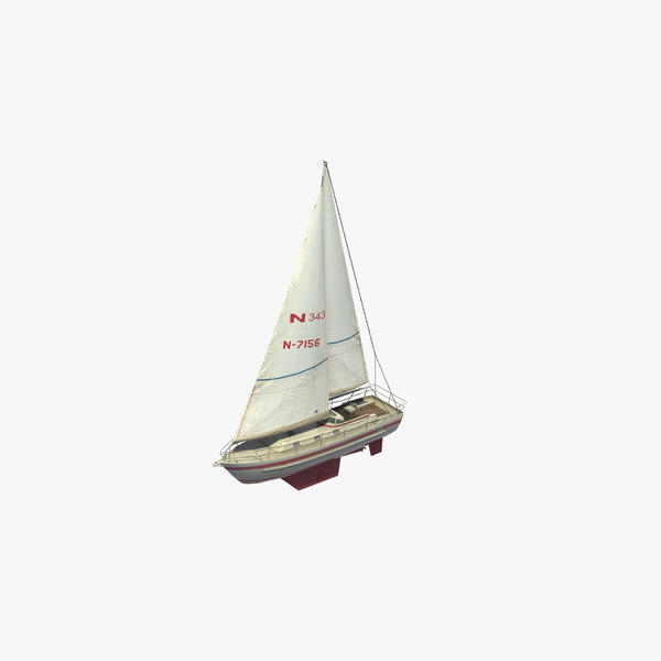 najad 343 sailboat 3D model