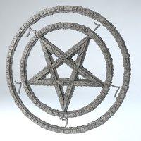 3D model pentagram -