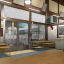 japanese bathhouse 3D model