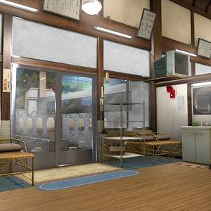 japanese bathhouse 3D model